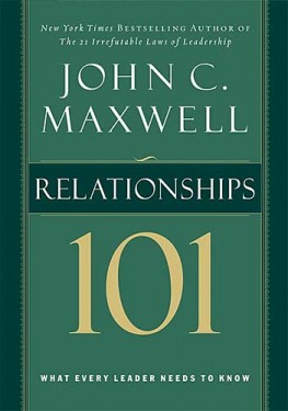 Relationships 101, John C. Maxwell